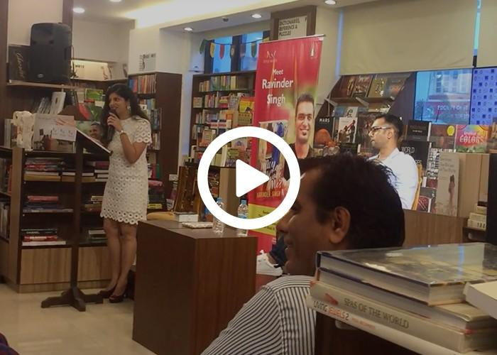 Anchor Dhwani Karia hosting a Book Launch for Ravinder Singh Part 2