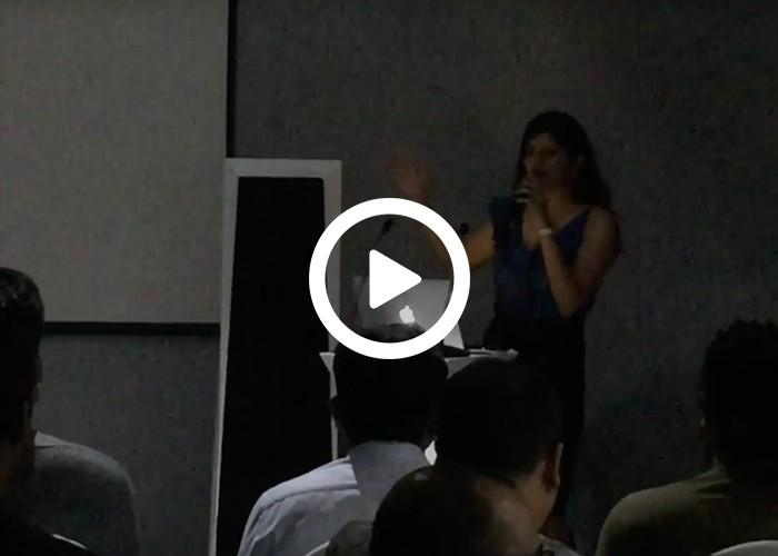 Anchor Dhwani Karia hosting an event for Quench Live Advertising Part 1