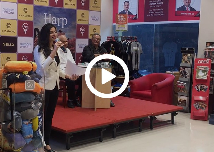 Anchor Dhwani Karia hosting a Book Launch HARP