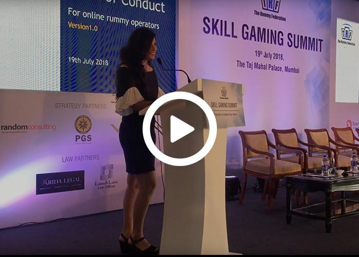 Anchor Dhwani Karia hosting for TRF Gaming Summit