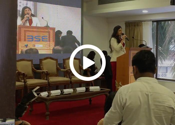 Anchor Dhwani Karia hosting for BSE - Bombay Stock Exchange