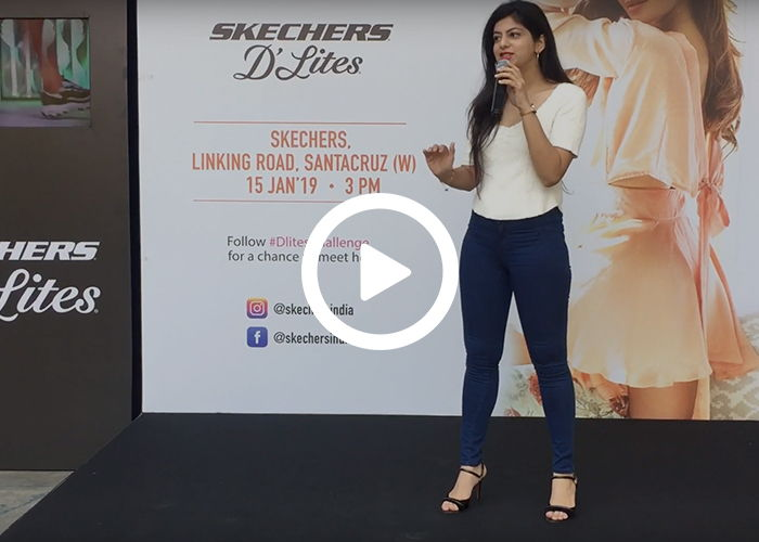Anchor Dhwani Karia hosting for Sketchers